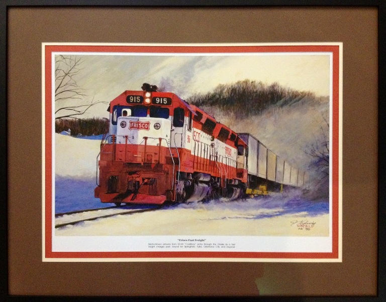 Frisco Fast Freight. This is a lithograph print of one of John Winfield's latest pieces.