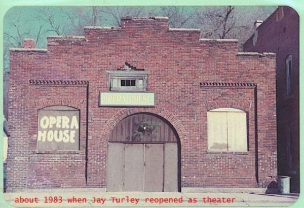 Lyric Theater in Newburg circa 1983. This is how it looked before restoration began. Notice it was in poor condition and the windows were boarded up.
