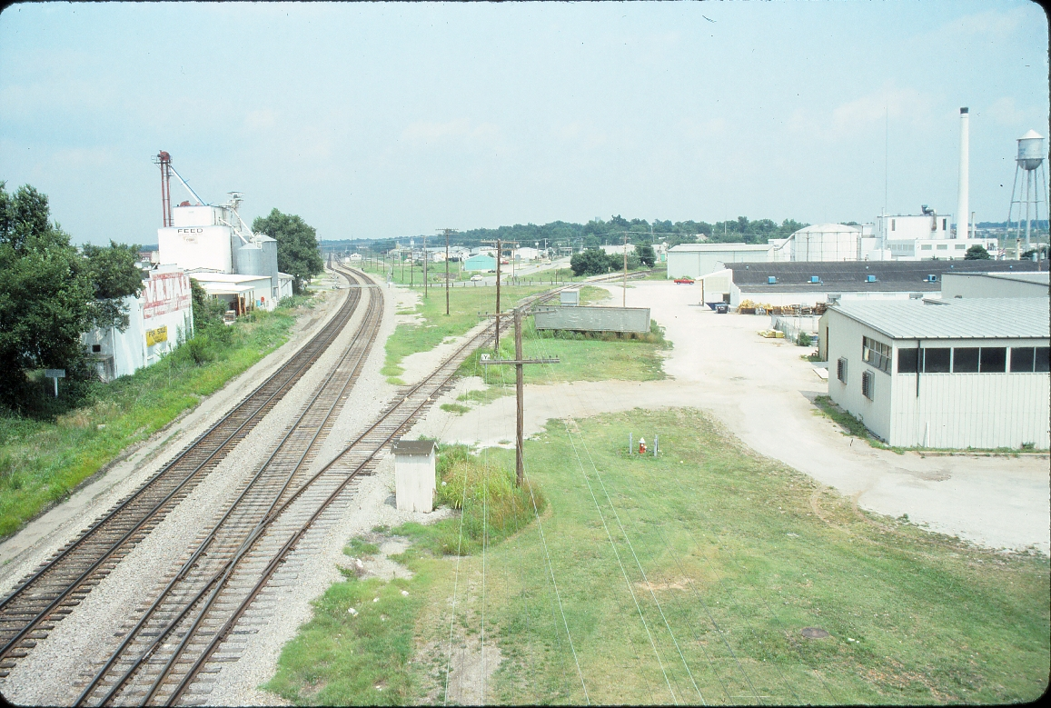 Monett, Missouri - July 1989 - Looking East off South Lincoln bridge