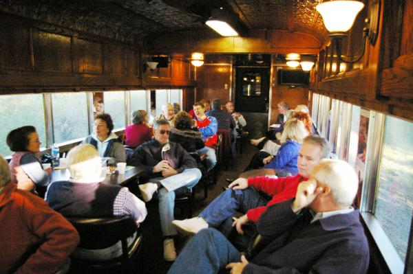 Rear area of Lounge Car #107