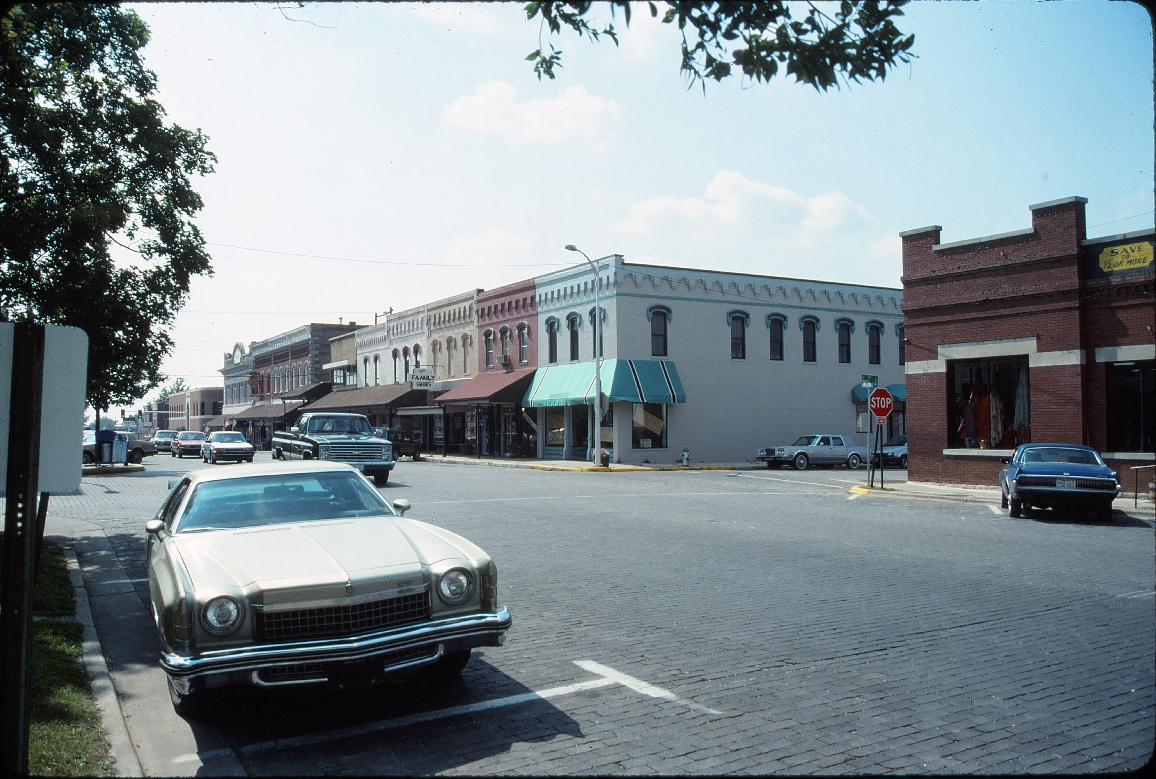 Rogers, Arkansas - July 1989 - Old downtown looking Northwest