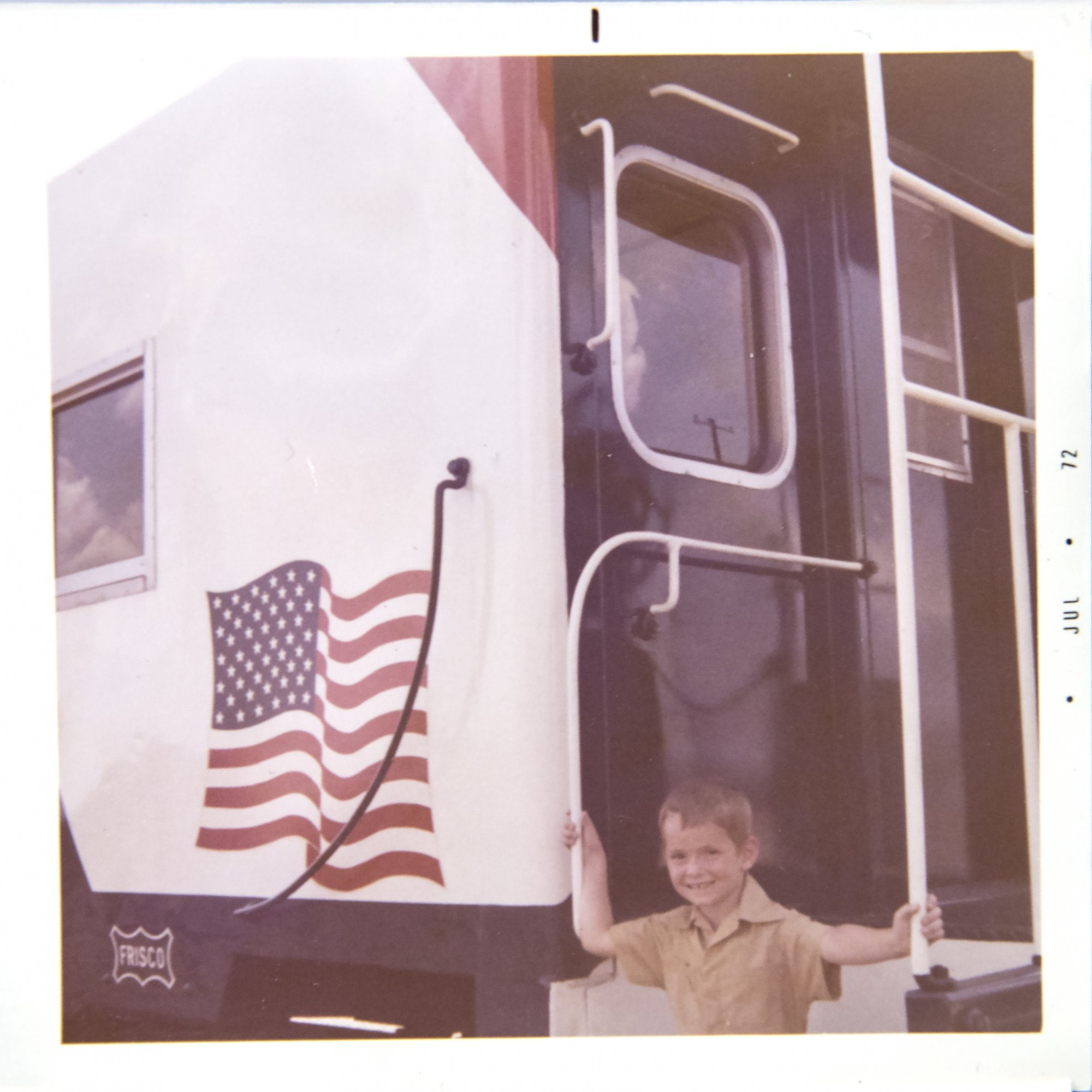SLSF Caboose 1776 American Flag