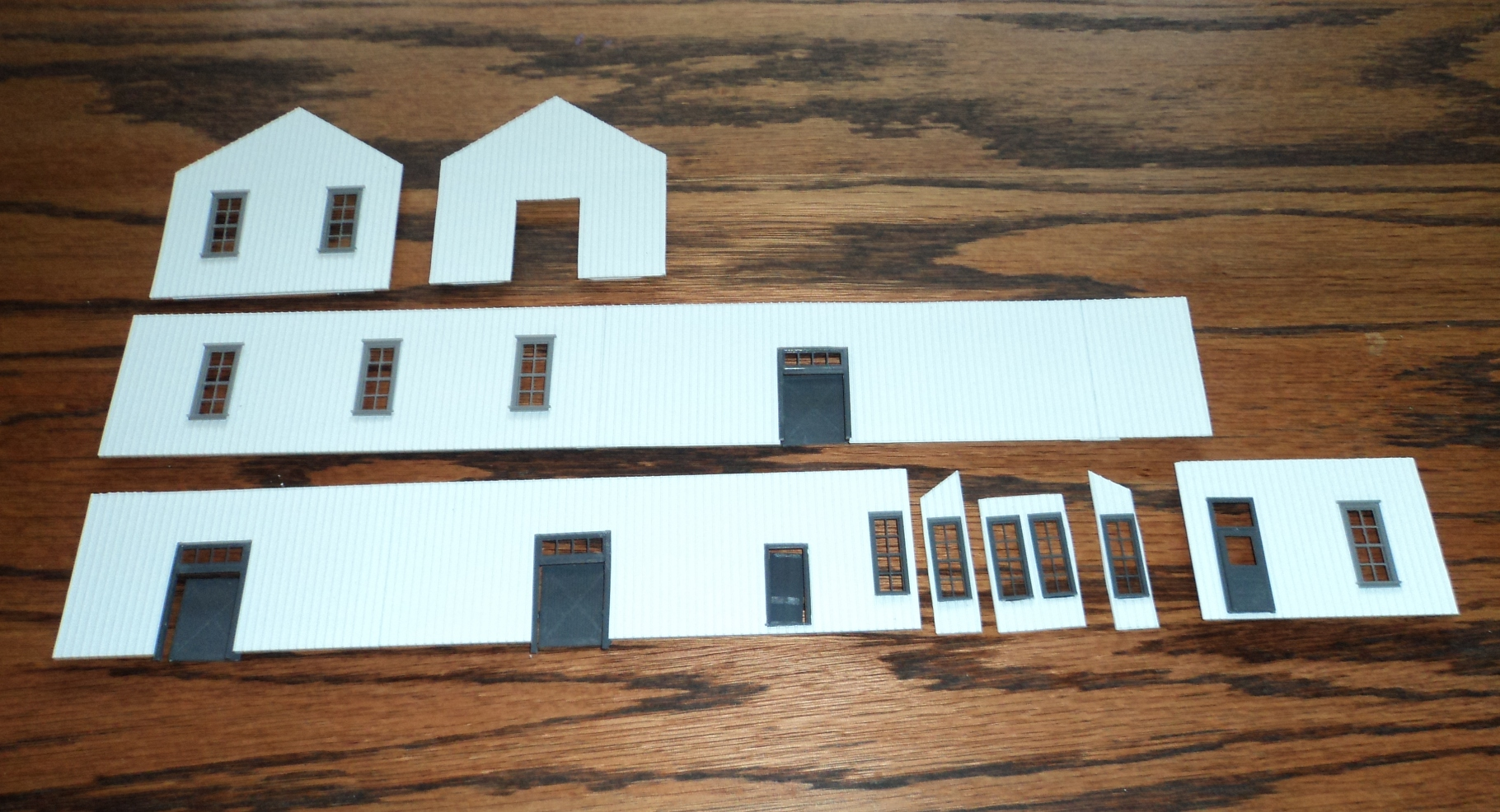 Styrene cutouts for exterior of Scammon KS Depot.